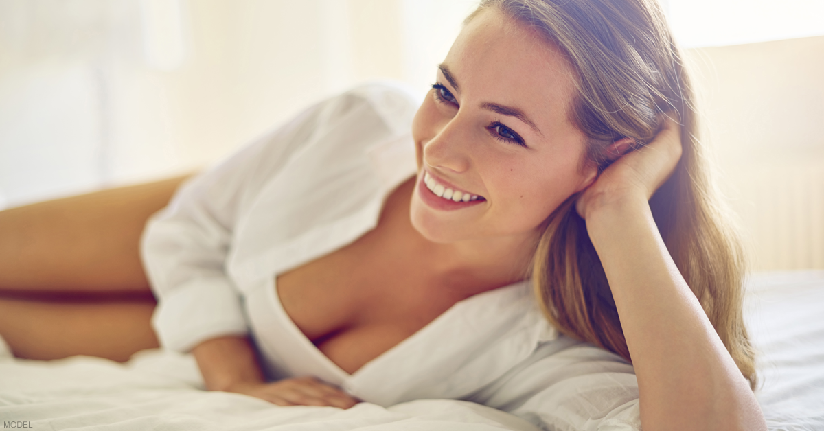 A beautiful woman recently underwent a breast augmentation in 2018.