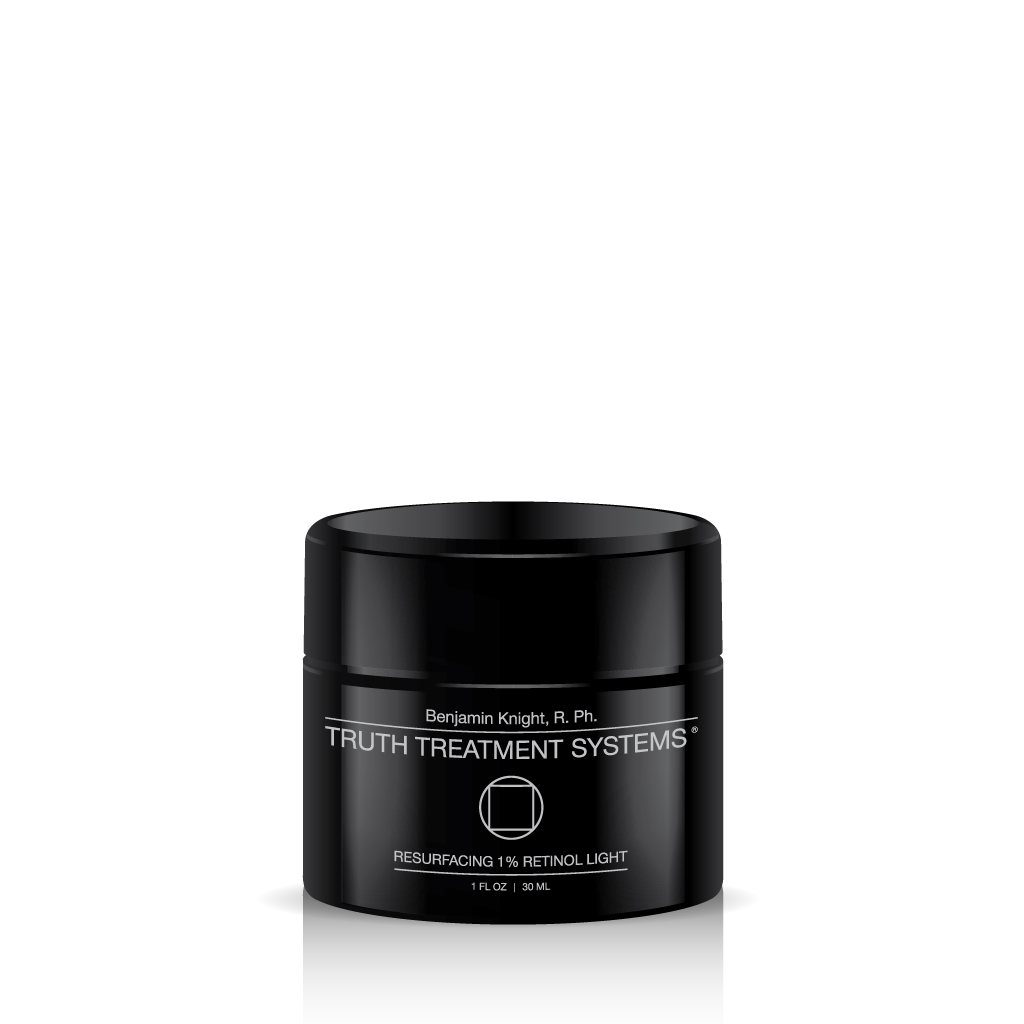 Black jar of Truth Treatment Systems Resurfacing 1% Retinol Light