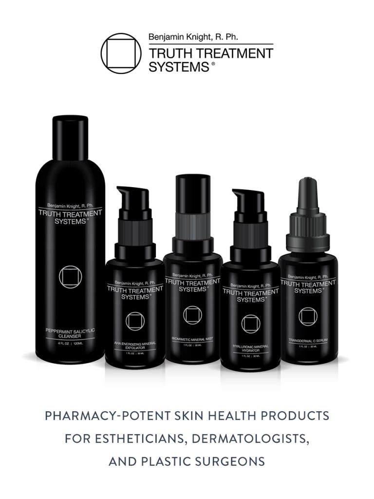 Truth Treatment System collection of products, pharmacy-potent skin health products.